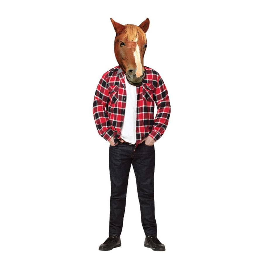 Horse Head Photo Real Adult Costume - adult halloween costumes Animal & Insect