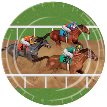 Horse Racing 9 Inch Plates -Set of 8 - Birthday Party Decorations Birthday Party