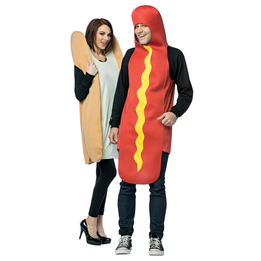 Hot Dog and Bun Adult Couples - adult halloween costumes female Halloween