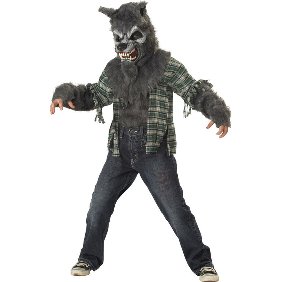 Howling At Moon Boys Costume Large 10-12 - Animal & Insect Costume Boys Costumes