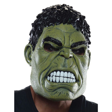 Hulk 3 Qtr Adult Costume Mask - Costume Masks Halloween costumes Halloween Mask