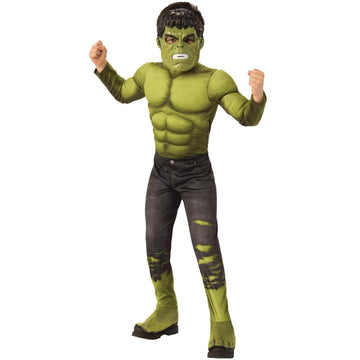 Hulk Avengers 4 Deluxe Boys Costume Small - Boys Costumes New Costume