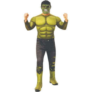 Hulk Deluxe Mens Costume Std - Halloween costumes Hulk Deluxe Mens Costume Std