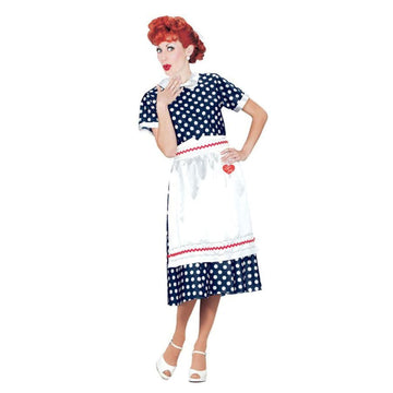 I Love Lucy Polka Dot Dress Lg - adult halloween costumes female Halloween
