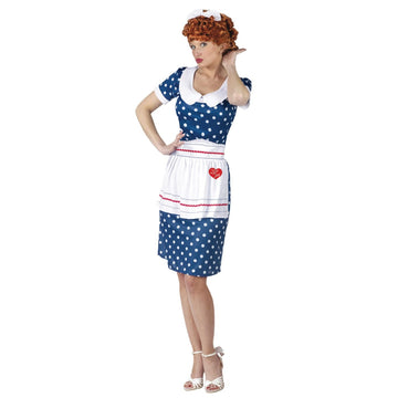 I Love Lucy Sassy Sm Md 2-8 - adult halloween costumes female Halloween costumes