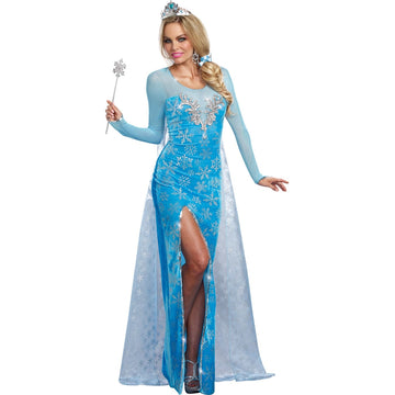 Ice Queen Adult Costume Large - adult halloween costumes Fairytale Costume