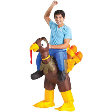 Inflate Turkey Rider Adult Costume - adult halloween costumes Funny Costume
