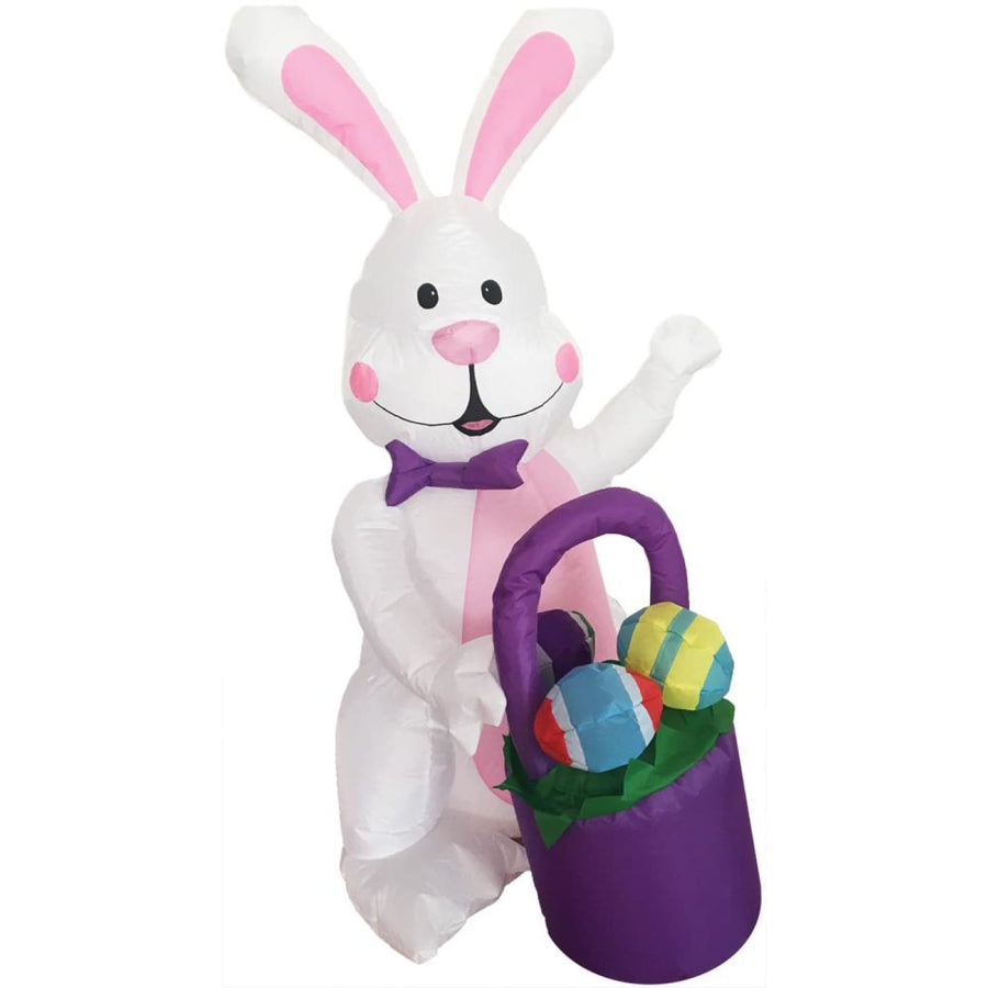 Inflated Bunny 4Ft With Basket - Halloween costumes New Costume
