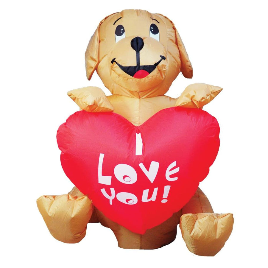 Inflated Dog With Heart 4Ft Led - Halloween costumes New Costume