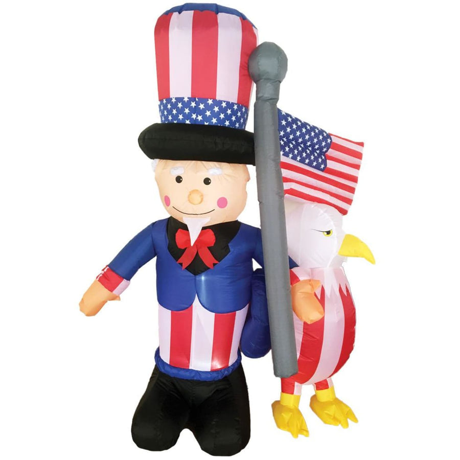 Inflated Uncle Sam With Eagle 6 Ft - Halloween costumes New Costume