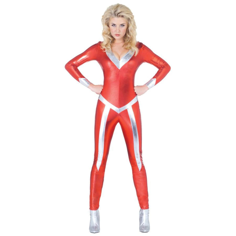 Jumpsuit Flame Adult Costume XLg 16-18 - adult halloween costumes female