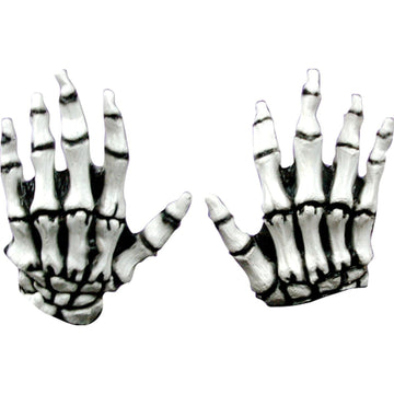 Junior Skeleton White Latex Hands - Ghoul Skeleton & Zombie Costume Halloween