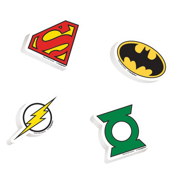 Justice League Erasers - Birthday Party Decorations Birthday Party Plates