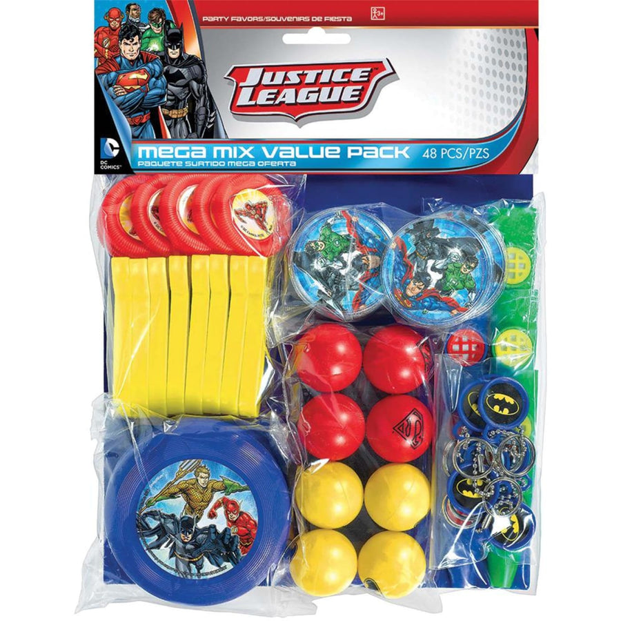 Justice League Party Favors Pack - Birthday Party Decorations Birthday Party