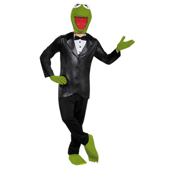 Kermit Deluxe Adult Teen Costume 38-40 - adult halloween costumes halloween