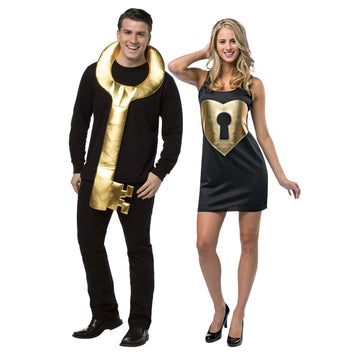 Key To My Heart Couples Adult Costume - adult halloween costumes female
