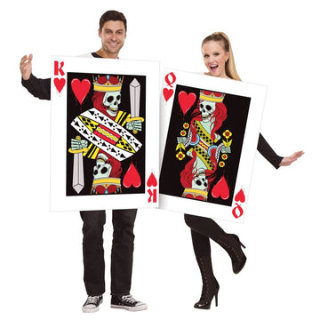 King & Queen Of Hearts Couples Costumes - adult halloween costumes Game Costume