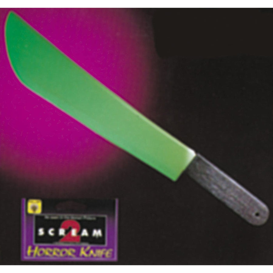 Knife Scream Ii Glow Dark - Scary Movie & Scream Costume Serial Killer Costume