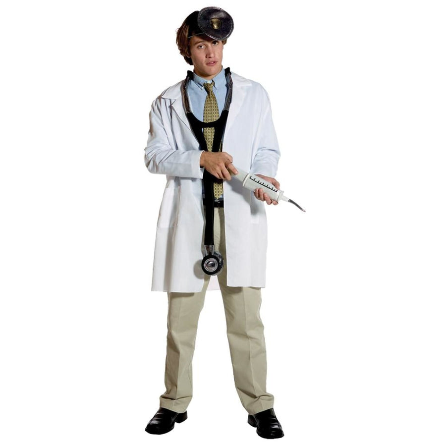 Lab Coat Adult Costume Standard Size - adult halloween costumes halloween