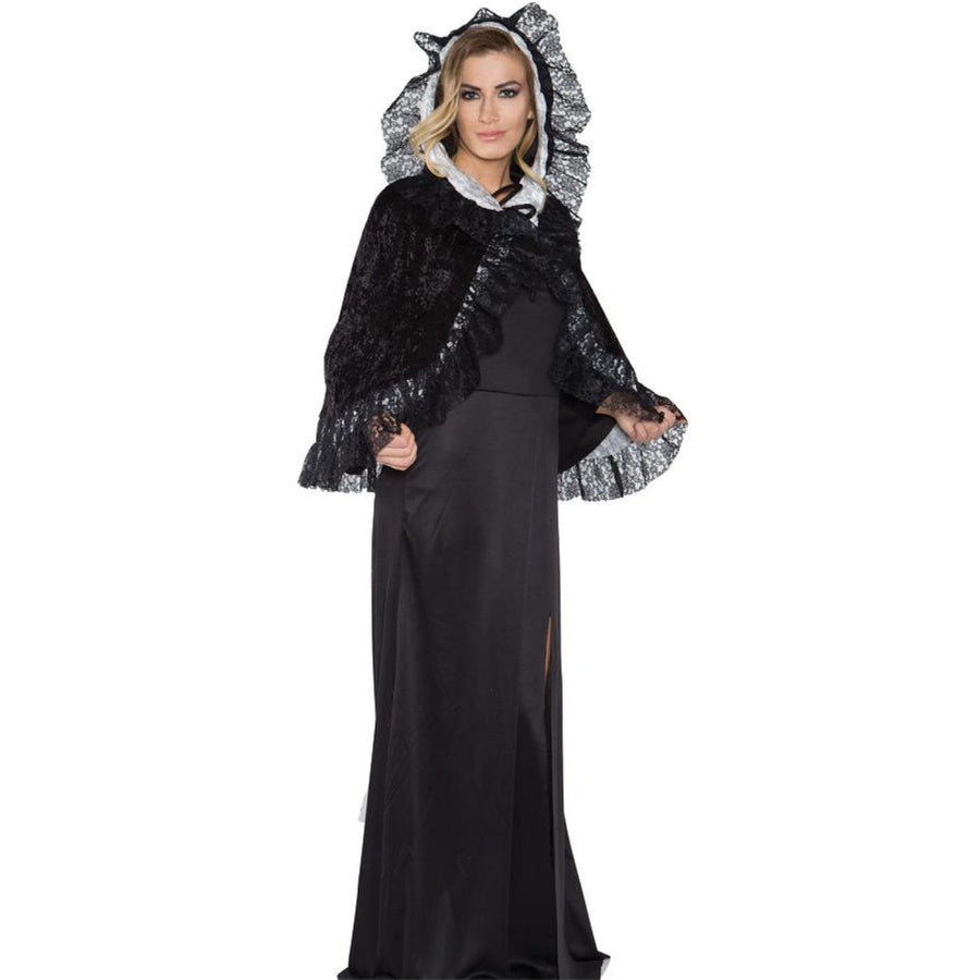 Lace Capelet Grey Adult Size - Gothic & Vampire Costume Halloween costumes Robes