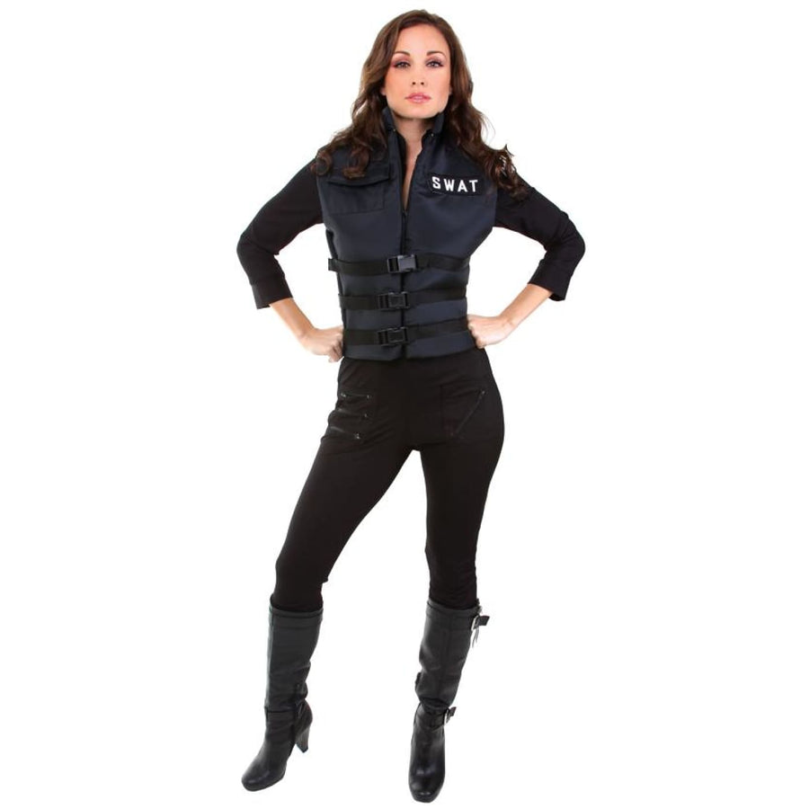 Lady Swat Sm - adult halloween costumes Convict & Cop Costume female Halloween