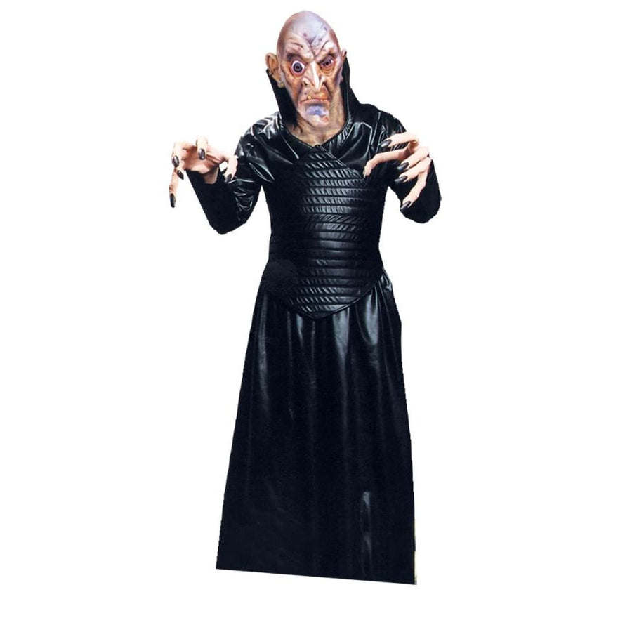 Leather Like Robe Black - Halloween costumes Leather Like Robe Black