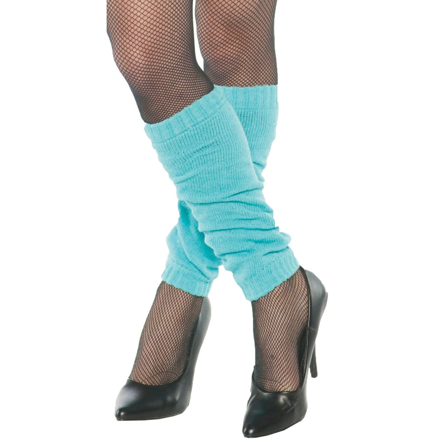 Leg Warmers Adult Neon Blue - Halloween costumes