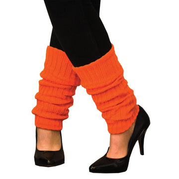 Leg Warmers Adult Neon Orange - 80s Costume Halloween costumes Shoes & Boots