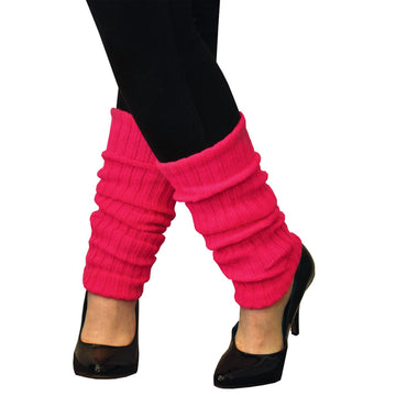 Leg Warmers Adult Neon Pink - 80s Costume Halloween costumes Shoes & Boots