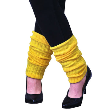 Leg Warmers Adult Neon Yellow - 80s Costume Halloween costumes Shoes & Boots