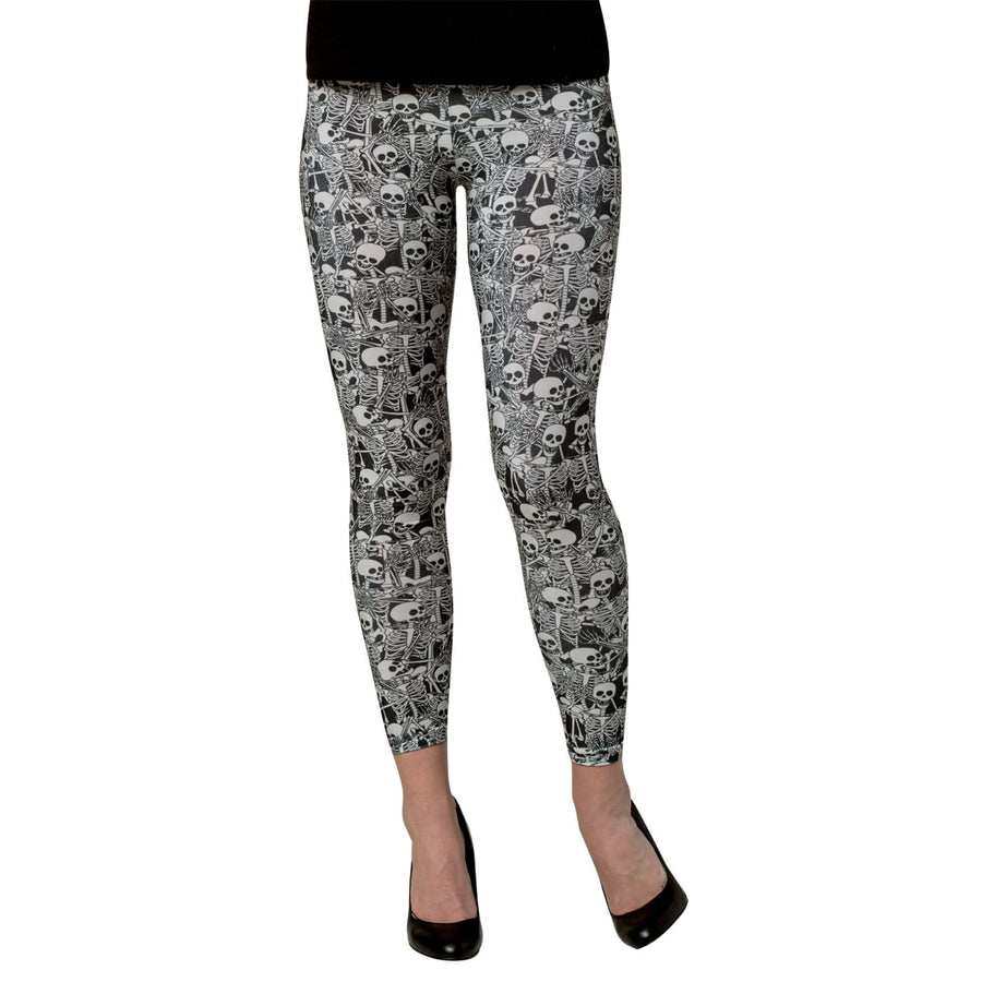 Leggings Skeletons Md Adult - Halloween costumes