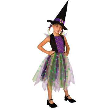 Light Up Rainbow Witch Child 12-14 - featured Girls Costumes girls Halloween