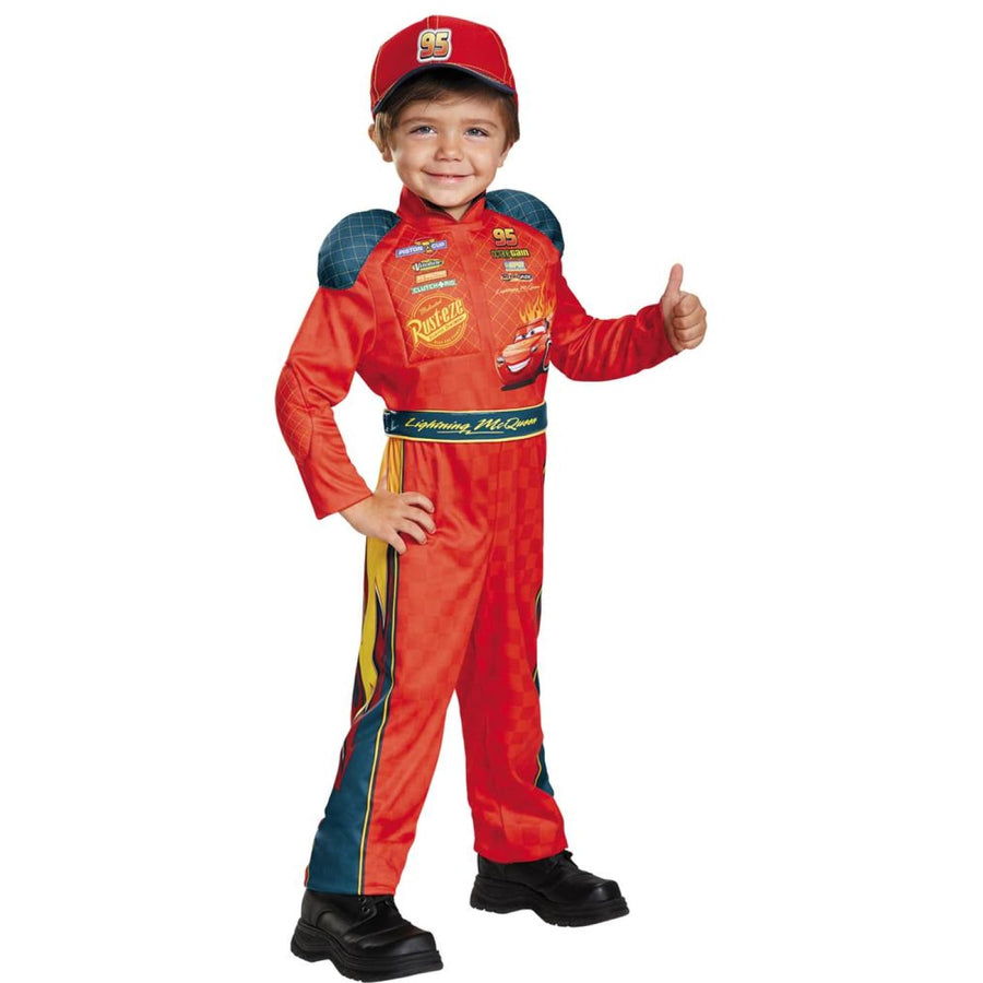 Lightning Mcqueen Classic Boys Costume Small 4-6 - Boys Costumes Halloween