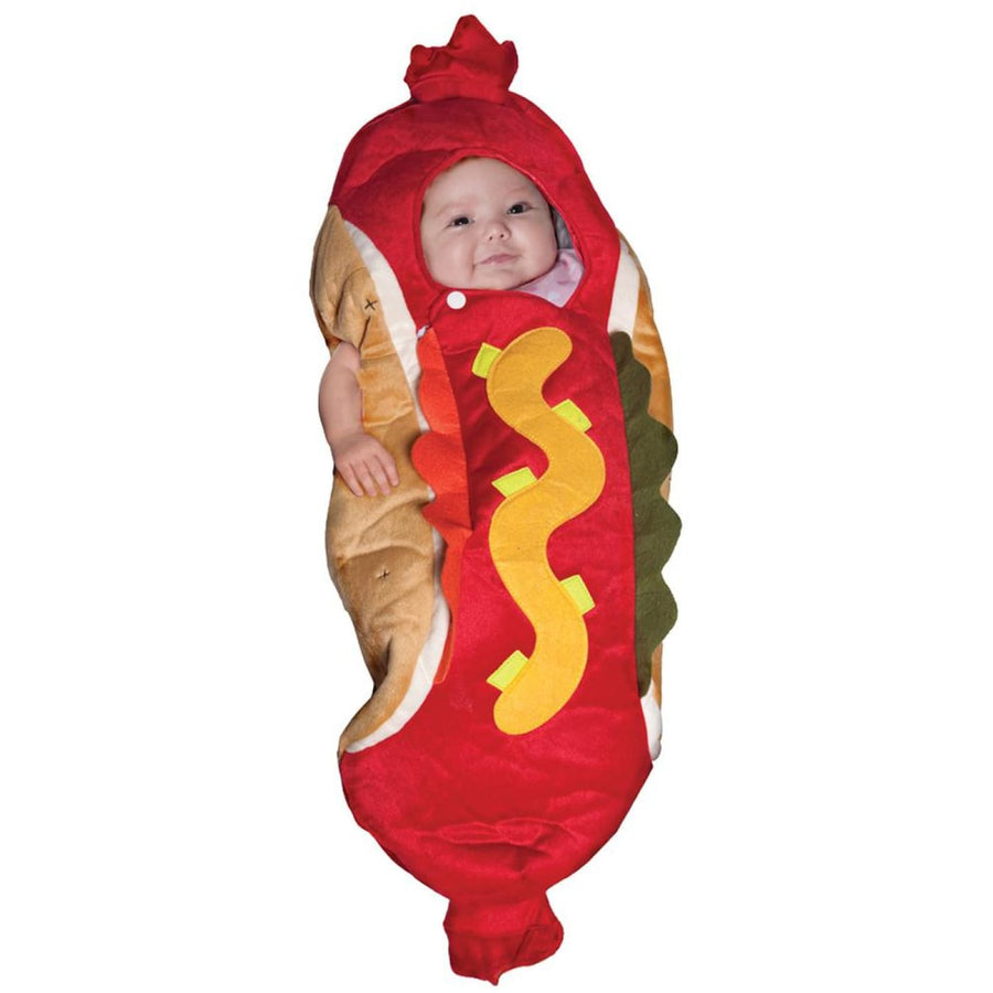 Lil Hot Dog Baby Bunting Costume 0-6 Months - Baby Costumes Food & Drink Costume