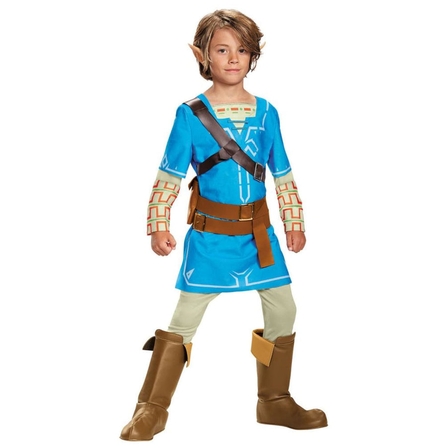Link Breath Of The Wild Deluxe Boys Costume Large 10-12 - Boys Costumes