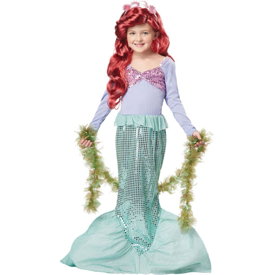 Little Mermaid Kids Costume Medium 8-10 - Disney Costume Fairytale Costume Girls