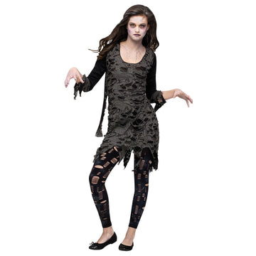 Living Dead-Walking Zombie Teen Costume - adult halloween costumes female