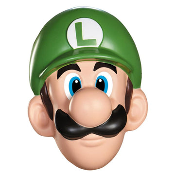 Luigi Adult Costume Mask - Costume Masks Game Costume Halloween costumes