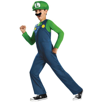 Luigi Classic Boys Costume Small 4-6 - Boys Costumes Game Costume Mario Brothers