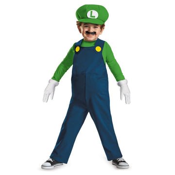 Luigi Toddler Toddler Costume 3T-4T - Game Costume Halloween costumes Mario