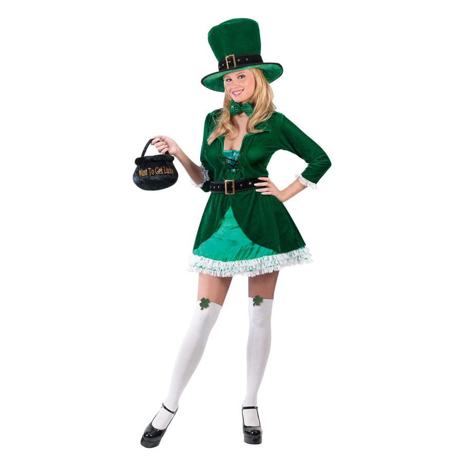 Luscious Leprechaun Adult Md-Lg - Holiday Costumes Womens Costumes womens