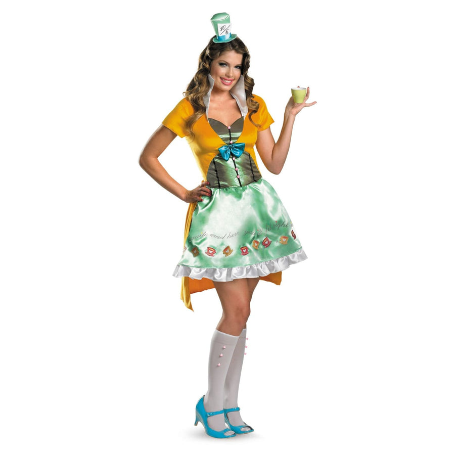 Mad Hatter Sassy Adult 4-6 - adult halloween costumes Alice in Wonderland