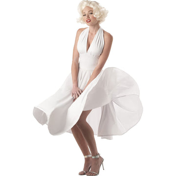 Marilyn Sexy Adult Costume Large 10-12 - 50s Costume adult halloween costumes