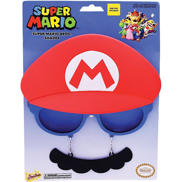 Mario Mario Bros Sunstache - Glasses Gloves & Neckwear Halloween costumes Mario