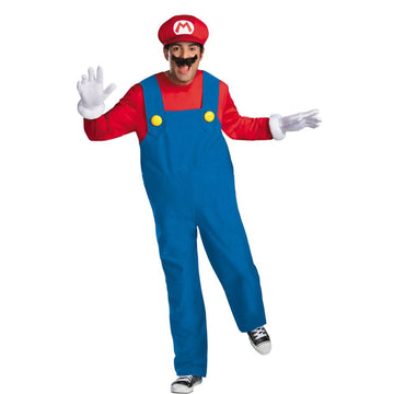 Mario Deluxe Adult Costume Large 42-46 - adult halloween costumes Game Costume