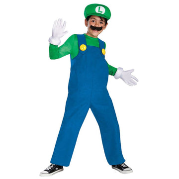 Mario Luigi Deluxe Boys Costume Small 4-6 - Boys Costumes boys Halloween costume