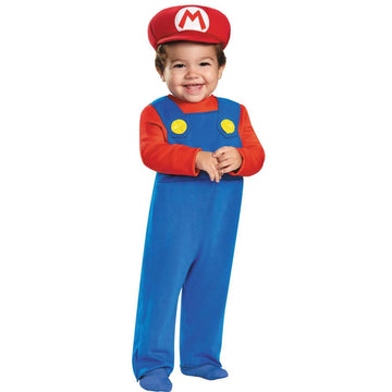 Mario Toddler Costume 12-18 Months - Halloween costumes Mario Brothers Costume