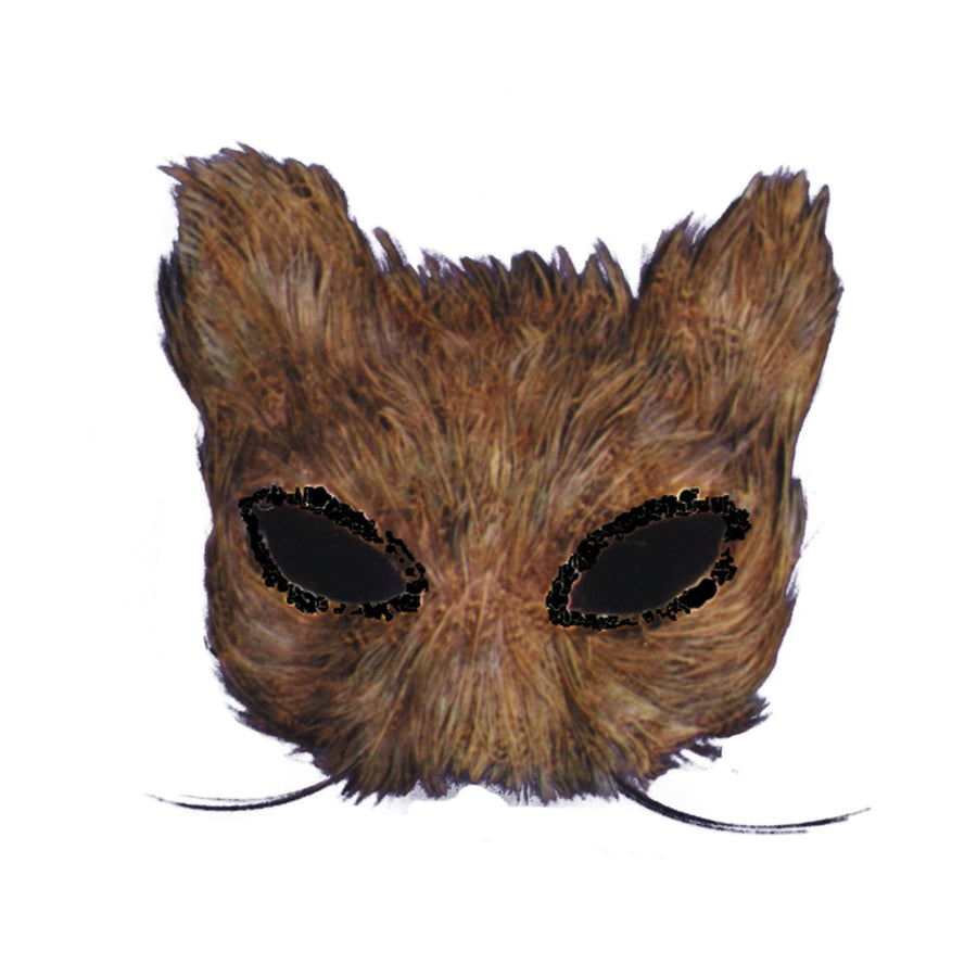 Mask Cat Feather Natural - Costume Masks Halloween costumes Halloween Mask