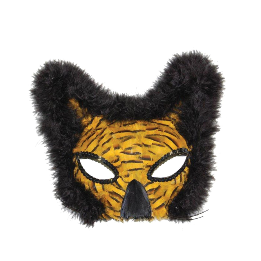Mask Lion Feather Gold - Costume Masks Halloween costumes Halloween Mask