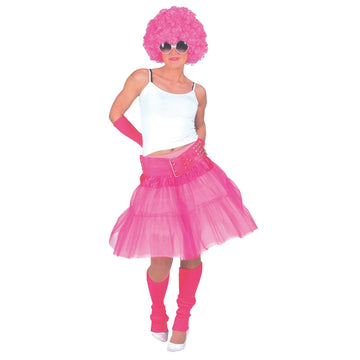 Material Girl Adult Skirt Pink - 80s Costume adult halloween costumes female